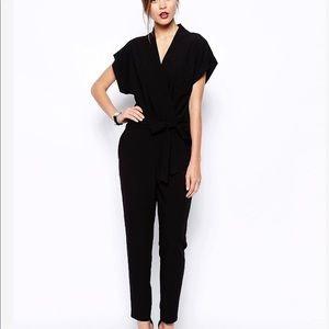 ASOS Jumpsuit With Tie Waist and Short Sleeves - 4